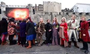 Fans in costume at the Tower