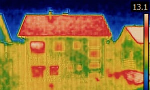 Thermal Image of a house.