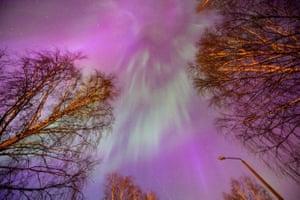 Aurora Borealis in Estonia, Keila.