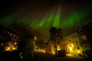 The Northern Lights in Kärrtorp, Stockholm.