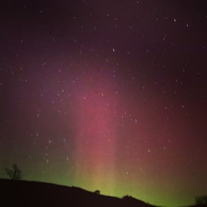 Northern Lights in Littondale, Yorkshire Dales.