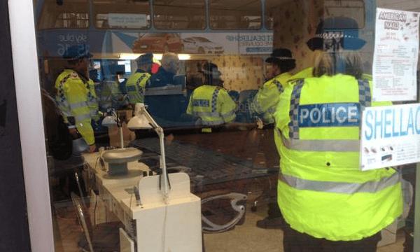 Thames Valley officers raid a nail bar
