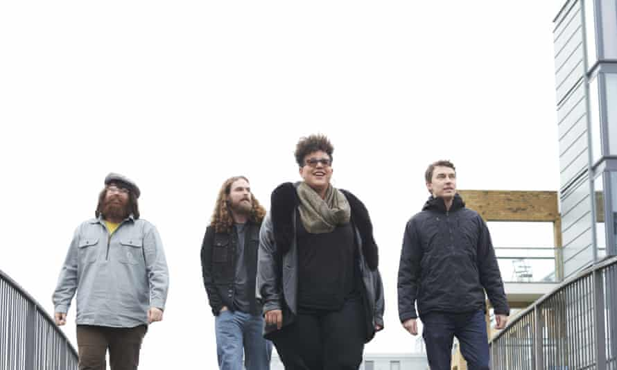 Alabama Shakes, photographed by Suki Dhanda for the Observer New Review, north London, February 2015 (l-r): Zac Cockrell, Steve Johnson, Brittany Howard, Heath Fogg.