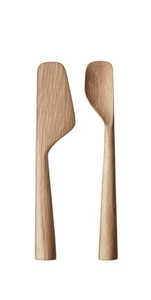 Wooden spoon and spatula set designed by Aurélien Barbry for Georg Jensen.