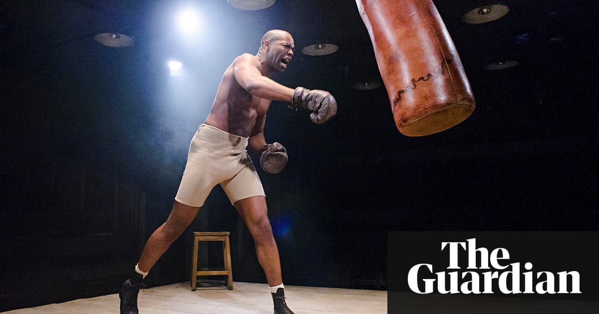 The royale review a pulsating expressionist vision of the boxing fighting spirit nicholas pinnock in the royale at bush theatre malvernweather Gallery