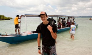 Volunteer arriving, Indonesia