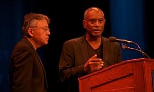 Authors Kazuo Ishiguro and Caryl Phillips