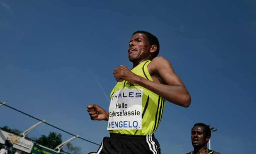 Haile Gebrselassie at the FBK games in 2008.