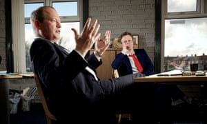 Simon Danczuk in his constituency office, with assistant and co-author Matt Baker.