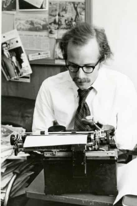 Photojournalist Will Steacy's father, Tom, at work in 1973.