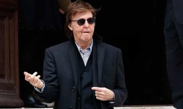 Paul McCartney at Paris Fashion Week in 2015