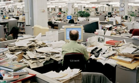 The Tower of the Truth, went from busy newsroom, seen in 2009 from the desk of Don Sapatkin, a science editor…