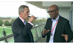 Trevor Phillips meets Nigel Farage in Things We Won't Say About Race That Are True. Photograph: Outl