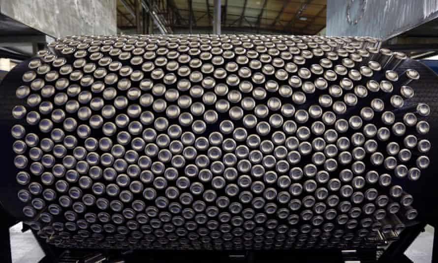 Aluminium cans at Rexam plant