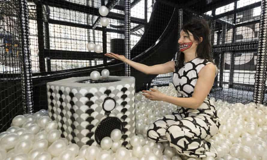 Artist Marvin Gaye Chetwynd ball pond soft play centre Barking, east London.
