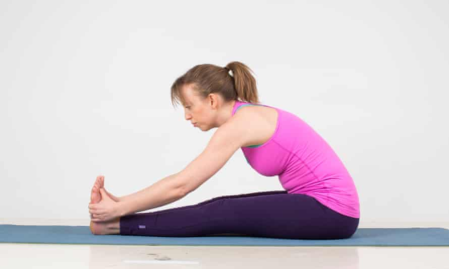 The seated forward bend.