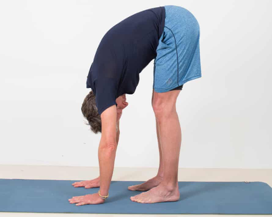 The standing forward bend.