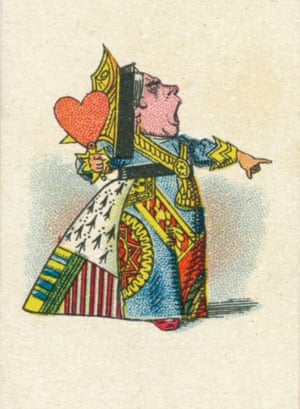 The Queen of Hearts. An illustration by John Tenniel, colour printed by Edward Evans for a series of cigarette cards in 1930.