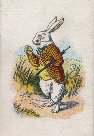 The White Rabbit. From a series of cigarette cards produced by Carreras Ltd in 1930.