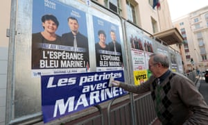 Front National local election posters in Nice