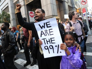 Occupy Wall Street protests in New York in 2011.