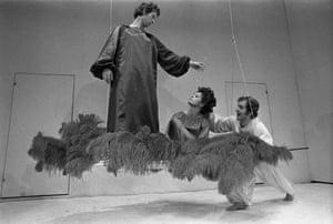 Alan Howard, Sara Kestelman and John Kane in A Midsummer Night's Dream.