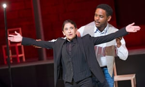Kathryn Hunter with Jared McNeill in The Valley Of Astonishment, written and directed by Peter Brook and Marie-Hélène Estienne.