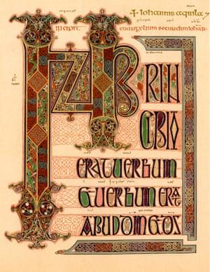 the Lindisfarne gospels, c700.