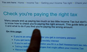 HMRC website page. Critics of the coalition's tax evasion crackdown fear innocent people will be snared by the new rules.