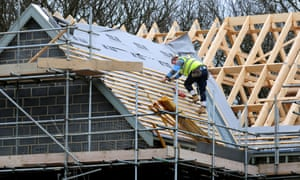 New houses being built in Derbyshire.