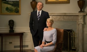 House of Cards: Kevin Spacey and Robin Wright as Frank and Claire Underwood.