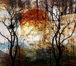 Winter Sunrise Abstract Photomontage of Welsh Landscape
