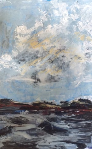Coast, Cornwall Oil and acrylic on paper