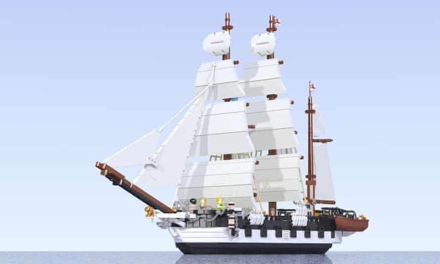 HMS Beagle, rendered by Luis Peña