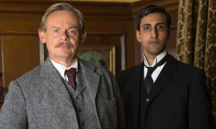 Athur and George: Martin Clunes as Arthur and Arsher Ali as George.