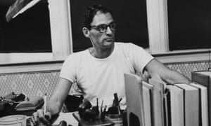 """""""A whole generation withered in its prime"""" ... Arthur Miller at his desk, circa 1955."""