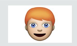 What a redhead emoji could look like.