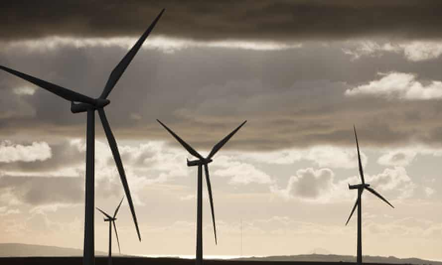 Whitlee wind farm on Eaglesham Moor, just south of Glasgow in Scotland.