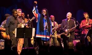 Jazz meets politics … Courtney Pine leading the finale