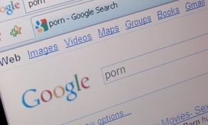 Google search engine looking for pornography