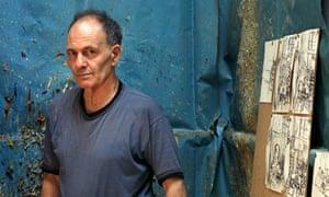 German-born British painter Frank Auerbach