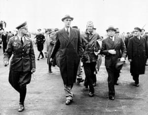 Charles Lindbergh at Tempelhof.