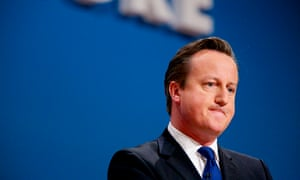 David Cameron during the 2014 Conservative party conference in Birmingham.