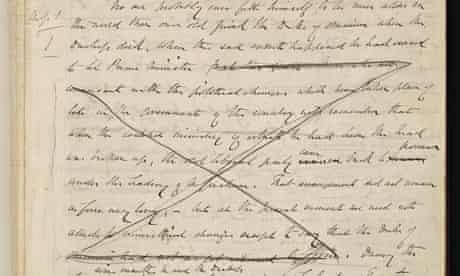 Anthony Trollope's original manuscript for The Duke's Children.