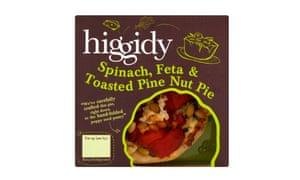 Higgidy spinach and feta pie
