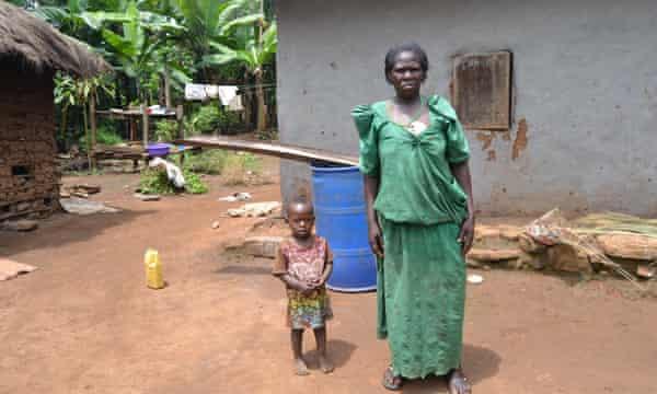 Mangdelena Nakamya, 64, now lives on church land after he was evicted from her land..JPGKalangala district, Uganda.JPG