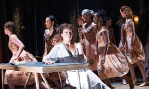 'Otherworldly': A dance troupe provides the Greek chorus to Helen McCrory's anguish.