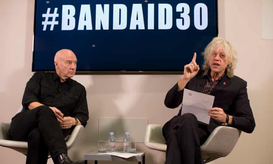 Bob Geldof and Midge Ure at the launch of Band Aid 30