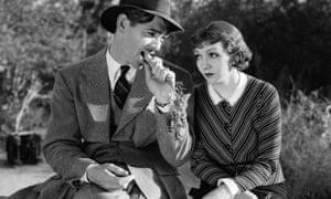 Claudette Colbert and Clark Gable in Frank Capra's  It Happened One Night