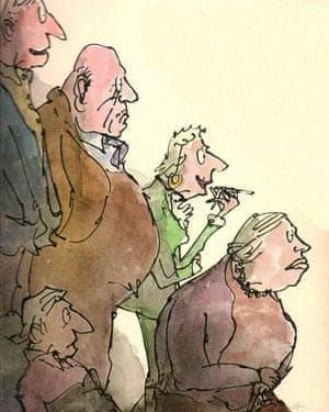 Quentin Blake's cover illustration for Ending Up.